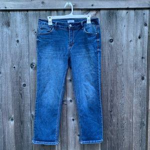 Kensie Dark Wash Jean Capris Size 12